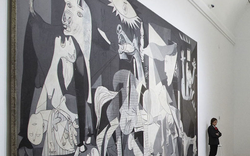 Pablo painting-on-canvas-3.49x7.77m-Museo-Reina-Sofía-Madrid-Spain